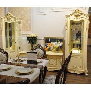 """Мебель для гостиной """"Лоренцо"""" крем"""