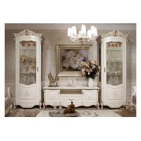 Мебель для гостиной Анданте беж/золото/глянец