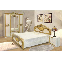 Модульная спальня Гера беж/золото