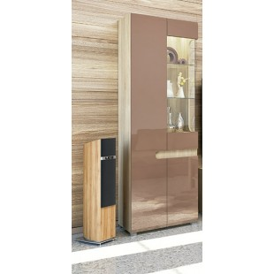 Шкаф-витрина Брайтон светло-коричневая