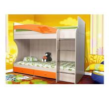 Кровать 2-ярусная Смайл