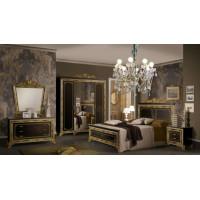 Модульная спальня Оливия черный глянец