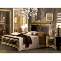 Кровать Оливия черный глянец