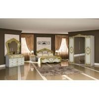 Модульная спальня Элана белый/золото