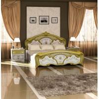 Кровать Элана белая/золото