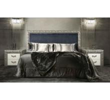 Кровать Диамант Премиум серебро-антрацит