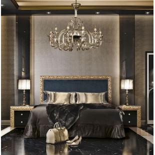 Кровать Диамант Премиум золото-антрацит
