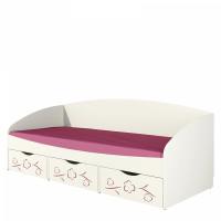Кровать Соня 0.8 с ящиками сакура