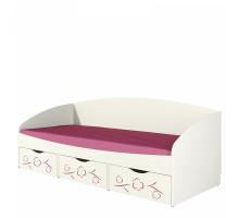 """Кровать """"Соня"""" 0.8 с ящиками сакура"""