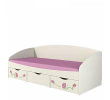 Кровать Соня 0.8 с ящиками розалия