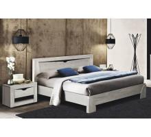 Кровать Эллада (бетон пайн белый/венге)
