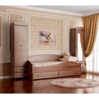 Кровать Ника с ящиками дуб кальяри/дуб шеппи