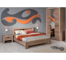 Кровать Клариса дуб