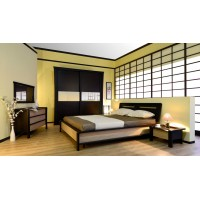 Модульная спальня Соломея венге/бамбук