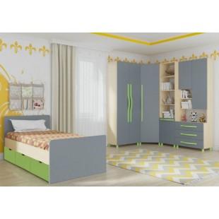 Мебель для детской комнаты Алан 02 клен/титан