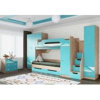 Мебель для детской комнаты Бриз аква