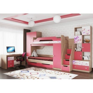 Мебель для детской комнаты Бриз коралл