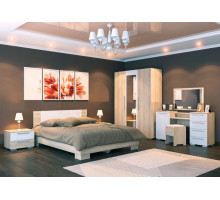 Модульная спальня Лиман белый глянец