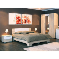 Кровать Лиман белый глянец