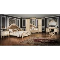 Модульная спальня Денали крем глянец