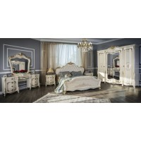 Модульная спальня Джоанна крем глянец