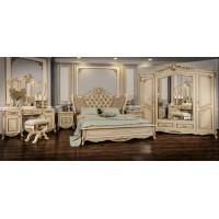 Модульная спальня Флоренция крем глянец