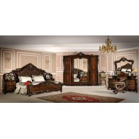 Модульная спальня Леонардо корень дуба глянец