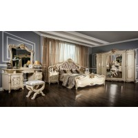 Модульная спальня Леонардо крем глянец