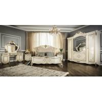 Модульная спальня Венди крем глянец