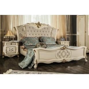 Кровать Венди крем глянец