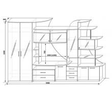 """Мебель для гостиной """"Вистара"""" 01"""