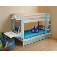 Кровать 2-х ярусная Адора с навесным столиком