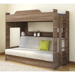 Кровать 2-х ярусная с диваном Анатолий