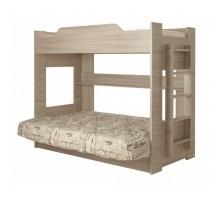 Кровать 2-х ярусная с диваном Анатолий (Шимо светлый)