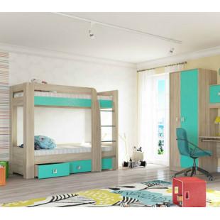 Кровать 2-х ярусная Юниор аква