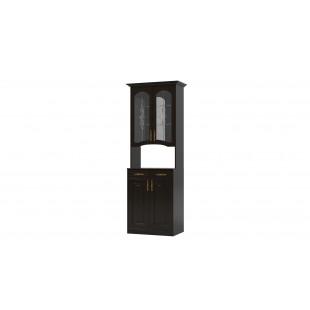 Витрина Ванесса 2-дверная с нишей венге