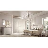 Модульная спальня Диамант Премиум серебро
