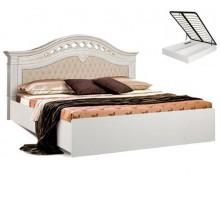 """Кровать """"Ромола"""" штрих лак с подъемным механизмом"""