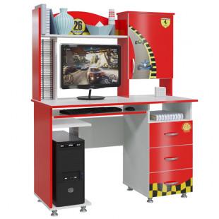 Стол компьютерный Ралли красный