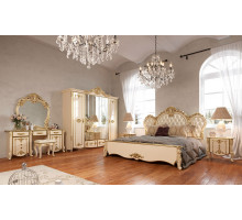 Модульная спальня Зефир слоновая кость с золотом