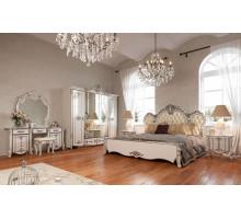 Модульная спальня Зефир белый глянец с серебром