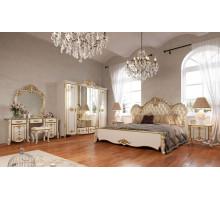 Модульная спальня Зефир белый глянец с золотом