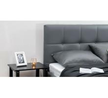 Кровать Терра Пегасо лайт грей к/з (серый)