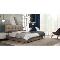 Кровать Терра Пегасо капучино к/з (бежево-коричневый)