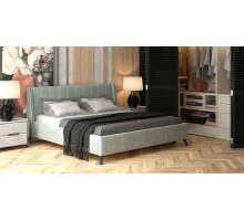 Кровать Юна велюр (серебристый серый)