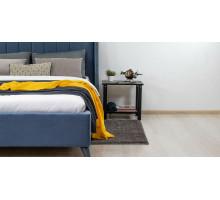 Кровать Юна (серо-синий)