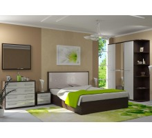 Модульная спальня Ребекка белый глянец