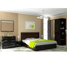 Модульная спальня Ребекка венге/черный