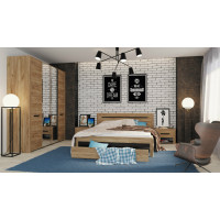 Модульная спальня Сирена 02 (крафт)